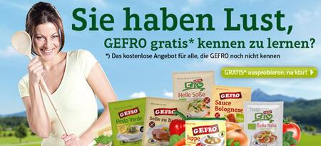 GEFRO - Kostenlose Produkte